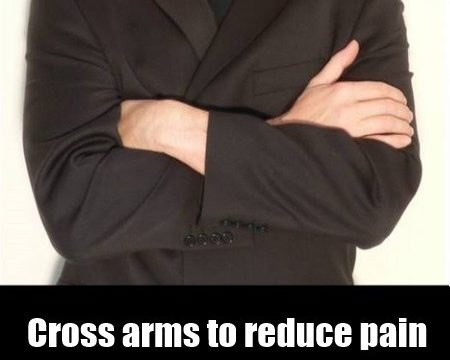 How Crossing Your Arms Can Reduce Pain Perception